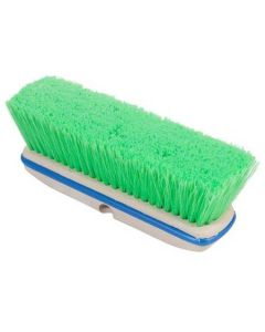 """10"""" Green Vehicle Wash Brush with Bumper"""