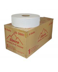 Toilet Tissue Jumbo JS3001 - 1 Ply (6 Rolls)