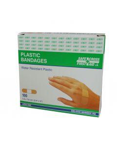 Bandaids Plastic 3/4x3 (100)