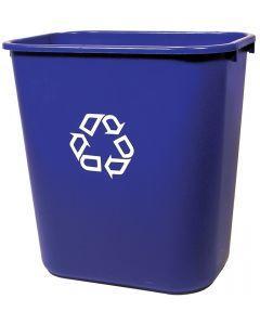 Wastebasket RU2956 28qt Blue Rec